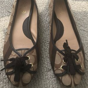 Coach flats- barely worn